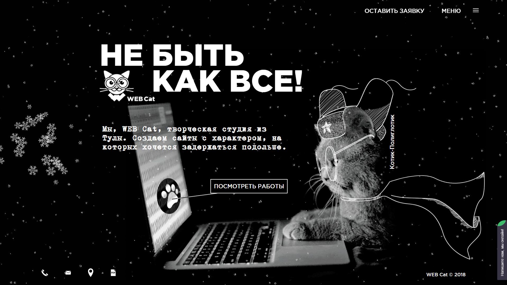 WebCat Новогодний режим