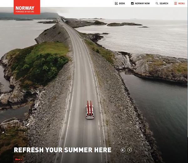 Дизайн сайта «Посетите Норвегию»