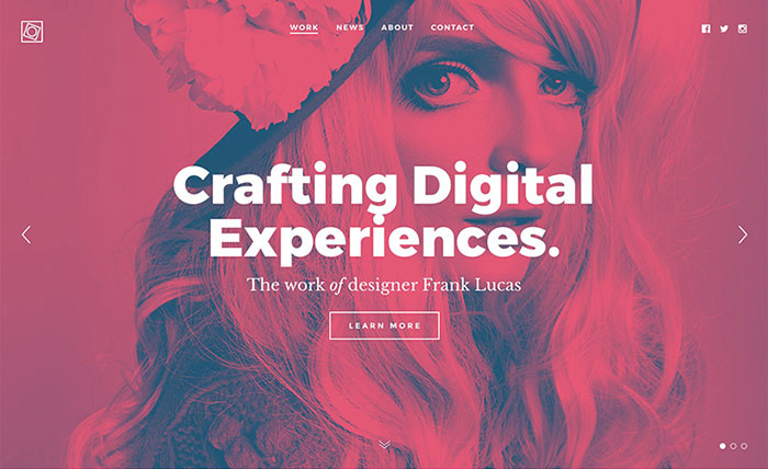 Пример использования дуотона в веб-дизайне