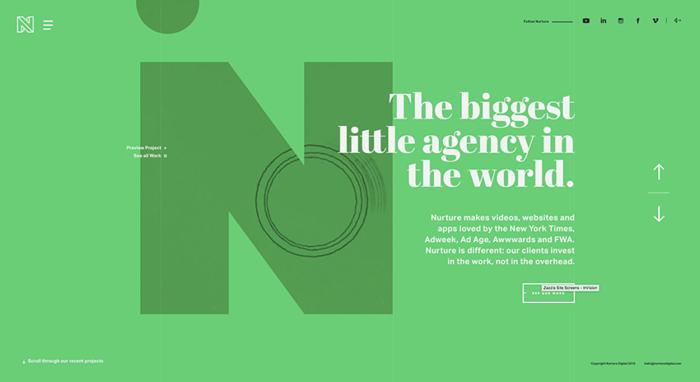 Крупногабаритные шрифты — тренд веб-дизайна 2017