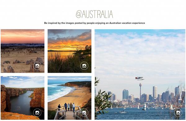 Дизайн «Австралийского сайта туризма и путешествий»